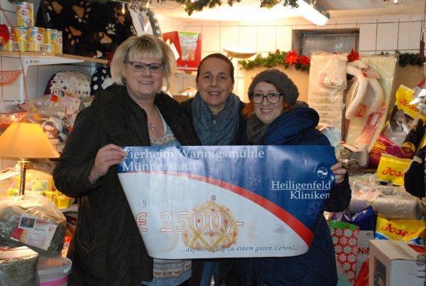 Weihnachtsspende der Heiligenfeld GmbH